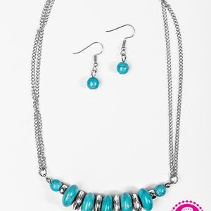 Jewelry - On Mountain Time - Blue Necklace Set